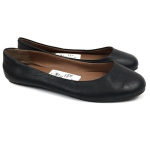 Lucky Brand Brenna Black Leather Flats Size 6.5
